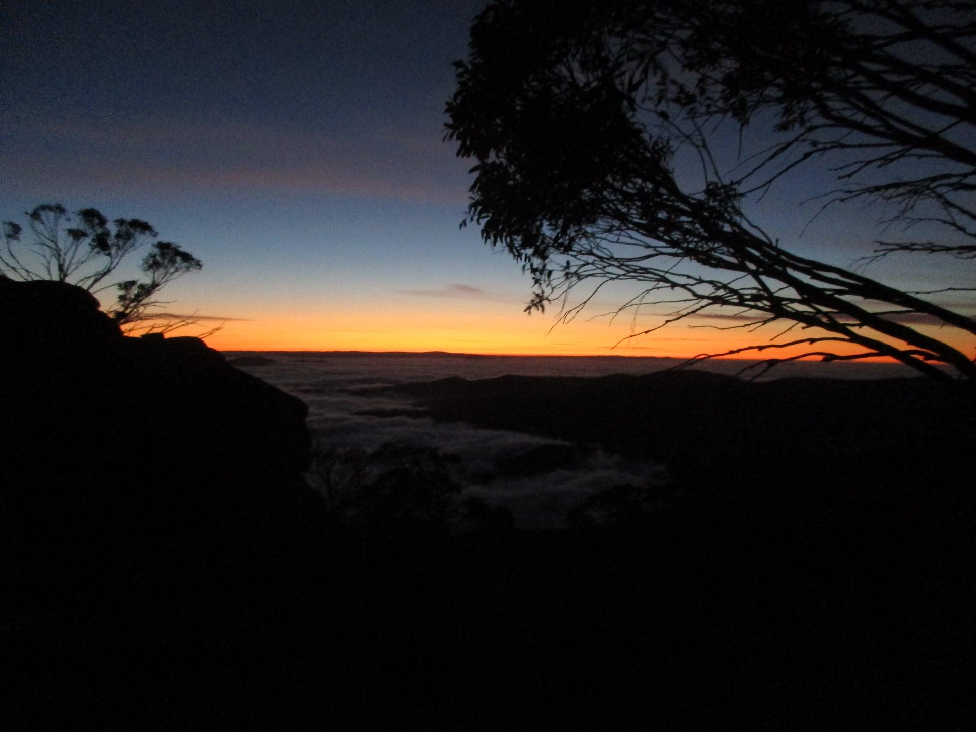 day  5  sunrise at  Mt. Wills   hut..jpg