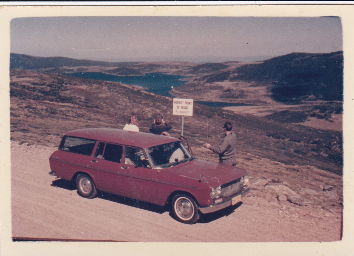 Highest point in the road looking towards arm of Rocky Valley dam - 1968.jpg