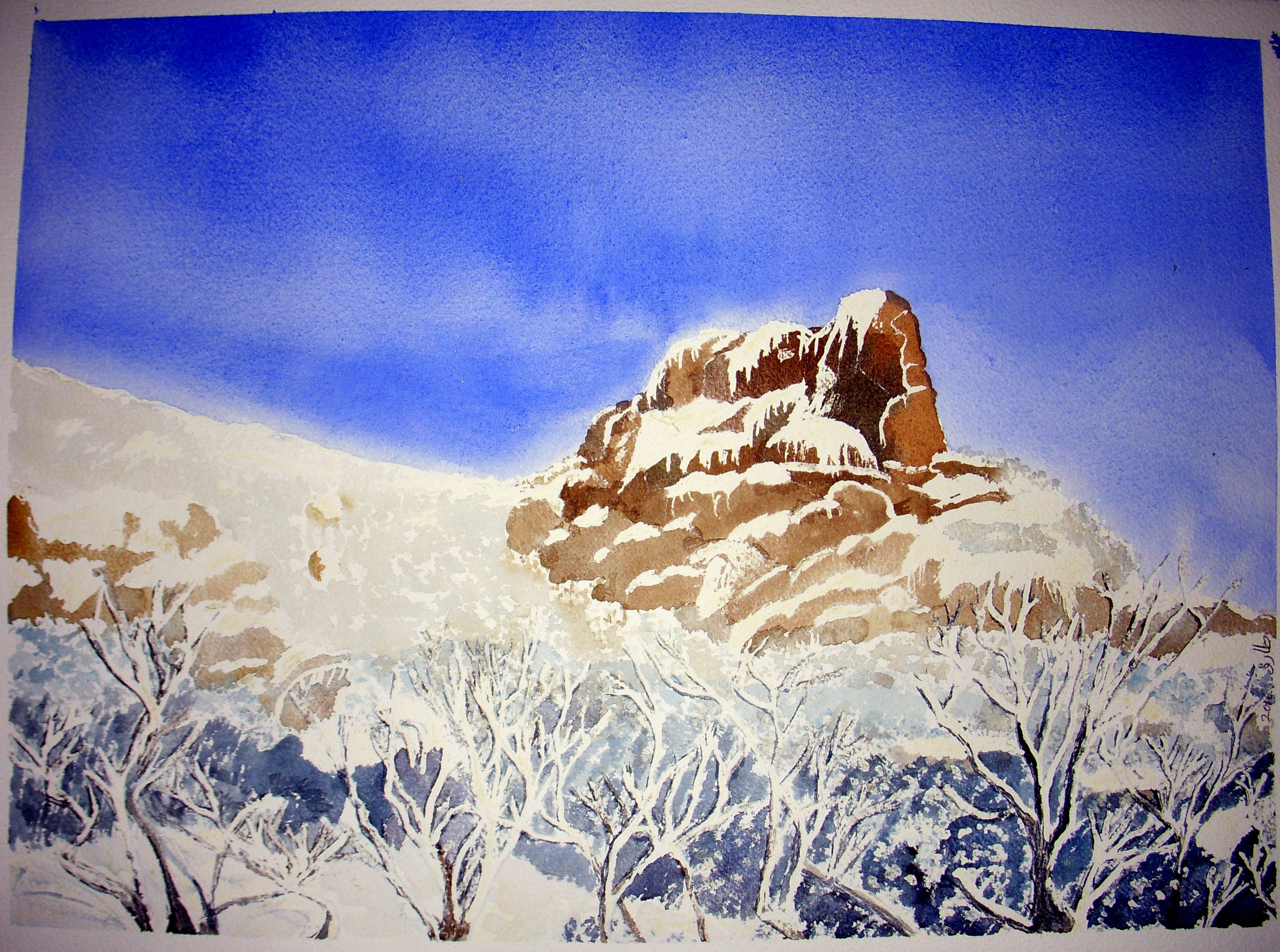 Mt.Buffalo watercolour painting1.2.cropped and contrasted..JPG