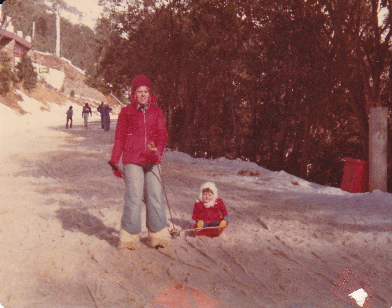 Myself and Kylie 1977 - love my boots!! .jpg